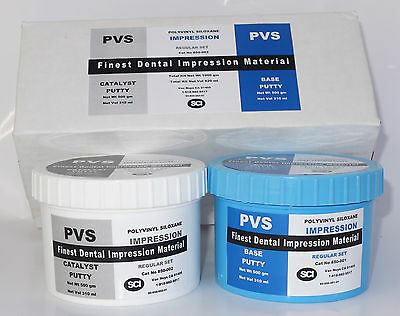 Dental VPS Putty Impression Material Vinyl Polysiloxane 600 ml (1000gm) Kit