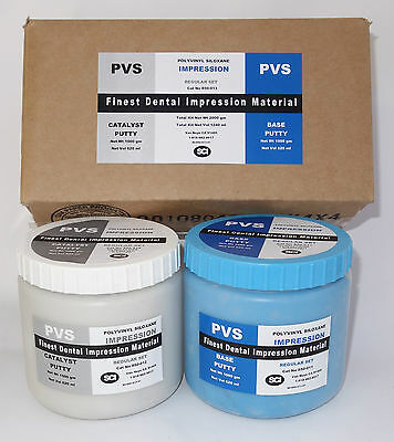 Dental VPS Putty Impression Material Vinyl Polysiloxane 1200 ml (2000gm) Kit