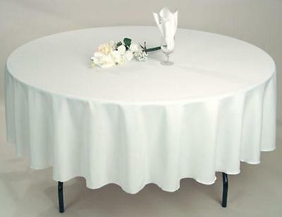 """15 PACKS 72"""" inch ROUND Tablecloth Polyester WEDDING PARTY Cover 21 COLORS USA"""