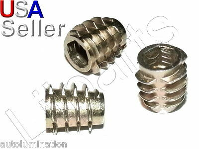 E-Z LOK M4 M5 M6 M8 M10 Die Cast Zinc Hex Threaded Insert Wood UnFlanged
