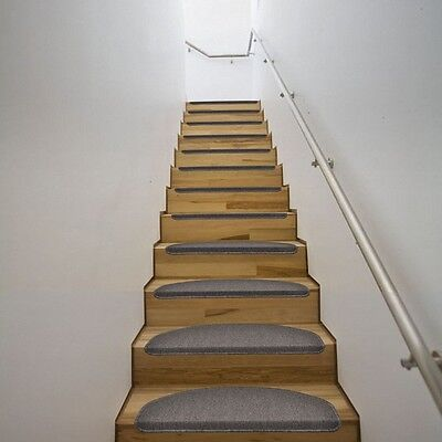 New Non-Skid Stair Carpets Stair Treads Mats Indoor Carpets 15 pieces Mocha