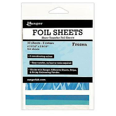 Shiny Transfer Foil Sheets - Frozen - 10 Sheets