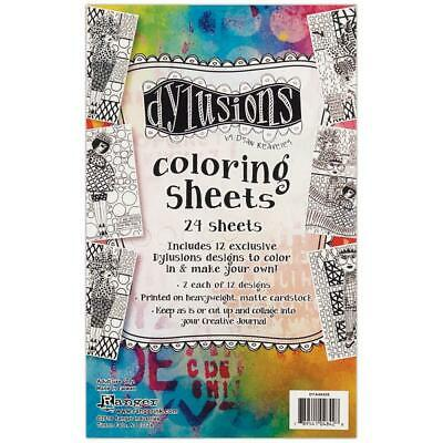 Dylusions Colouring Sheets - Set 1 - 24 Sheets
