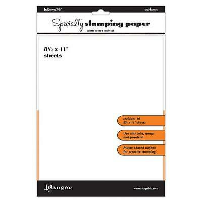 Ranger Speciality Stamping Paper - 8x11 A4 - 10 Sheets