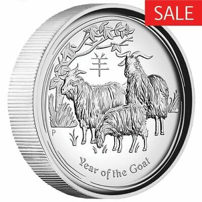 NEW Perth Mint Lunar Series - 2015 Year of the Goat 1oz Pure Silver Coin