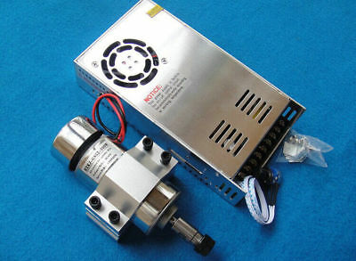 300W 12000RPM DC 12V-48V Spindle Motor + Adjustable Power Supply + Mount 52mm