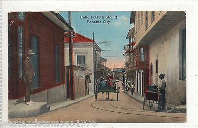 Foreign Ppc Panama City, Calle 13 (13Th Street) Posted. Ancon/canal Zone Cds