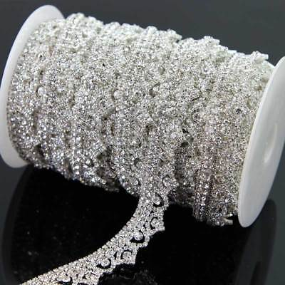 1 Yard 22mm Sparkling Wedding Clear Crystal Trim Craft Glass Rhinestone Chain