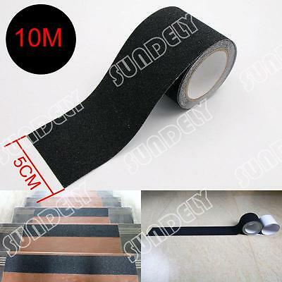 Black 5cm Safety Grip Anti Slip Stair Tread Tape 10Meter Roll Self Adhesive