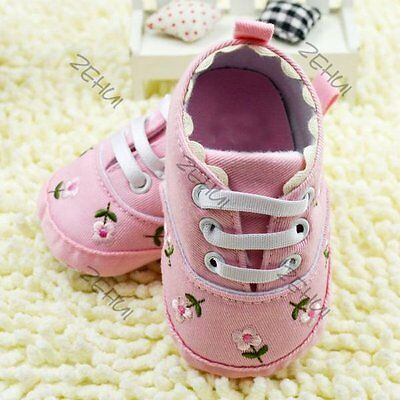 Soft Sole Crib Shoes Infant Toddler Baby Boy Girl Sneaker Newborn to 12Months
