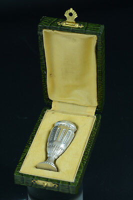 NICE  FRENCH SILVER WAX STAMP / SEAL LOUIS XVI WITH pearls acanthus leaves Rare