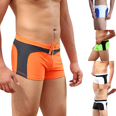 Men's Swimming Trunks Fashion Swimwear Swim Shorts Boxer Briefs Underwear Pants
