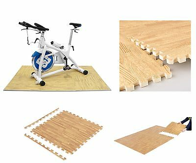 Interlocking Wood Effect Eva Mat Soft Foam Flooring Mats Play Area Exercise Gym