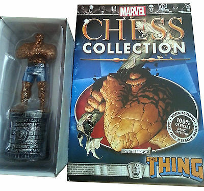 Figura Marvel Chess Ajedrez Collection Especial The Thing  Fantastic Four