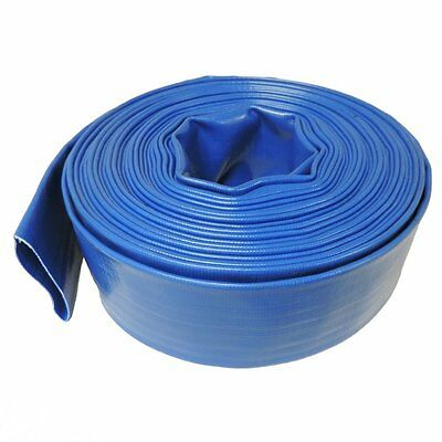"3"" x 100' Agricultural Grade PVC LayFlat Hose for Water Discharge or Backwash"
