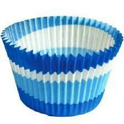 Cupcake Creations 32 Standard Baking Cups Blue Circles W/recipe Made In Sweden