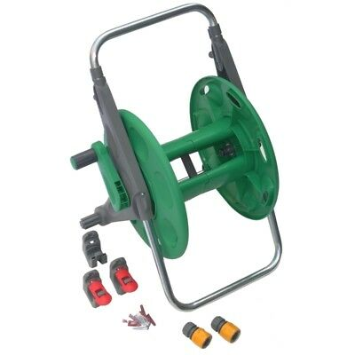 Hozelock 60m  2'n1 Garden Hose Reel with wall mount brackets without Hose-2475