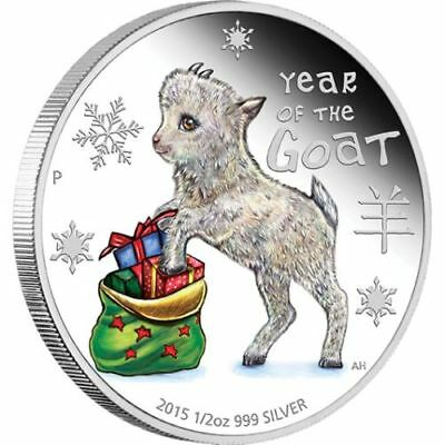 NEW Perth Mint Baby Goat 2015 1/2oz Pure Silver Coin