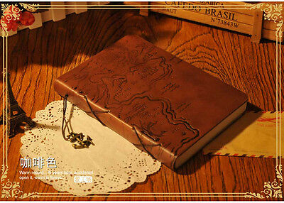 Coffee Pirate PU Leather Retro Vintage Notebook Diary  Journal Travel Schedule