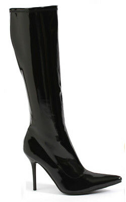 Adult Womens Black Sexy High Heel Gogo Boots Costume Accessory