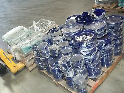 "1100+ Coors China Alox Dinner Catering Plates Cups Blue 5 1/2"" 6"" 8"" 10 1/2"" 12"""