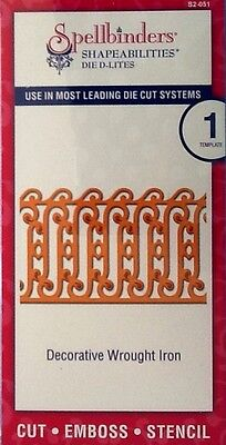SPELLBINDERS D-LITES cutting die DECORATIVE WROUGHT IRON - CUTTLEBUG COMPATIBLE