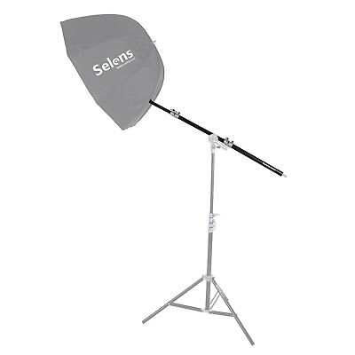 Selens Photography Flash Light Stand Retractable Extension Rod 60cm All Aluminum