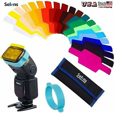 Selens SE-CG20 FLash Speedlite Speedlight Color Gels Filter 20pc + Gels-Band