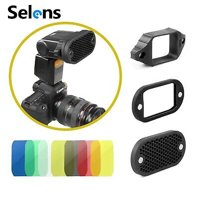 Selens 2-in-1 Universal Honeycomb Grid & 7 Color Gels Kit for Camera Speedlight