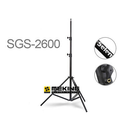 Selens Heavy Duty Light Stand 260cm / 8.5ft SGS-2600 for photo video 3 section