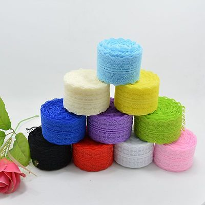 Wholesale! 10 Yard Embroidered Net Lace Trim Ribbon 4.5 cm Multicolour Choice