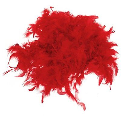 2m Feather Boas Fluffy Craft Costume Dressup Wedding Party Home Decor (Red) BF