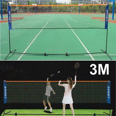 3M Mini Badminton Net, Tennis Nets, Volleyball Net With Frame Stand Foldable