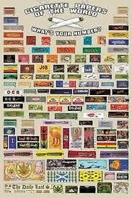 Rolling Papers Of The World 91.5 X 61 Cm Poster New Official Merchandise