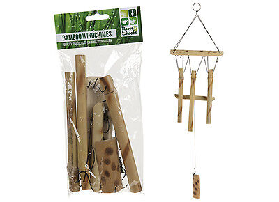 Bamboo Wind Chime Windchime Feng Shui Garden Ornament Good Luck Home Decor