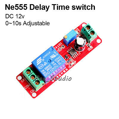 DC 12V Delay Turn On Timer Switch Adjustable 0 to 10 Second Car Relay module 10s