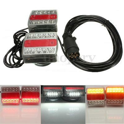 Magnetic 15 LED Trailer Towing Lightboard Lights Rear Tail Board Lamps 10m Cable
