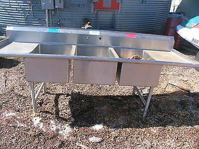 Commercial 3 Compartment Stainless Steel  Sink