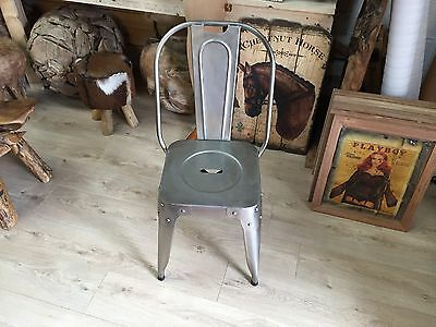 Old Traditional Vintage Retro Cast Iron Chair Seat Stool Steel Metal Unique