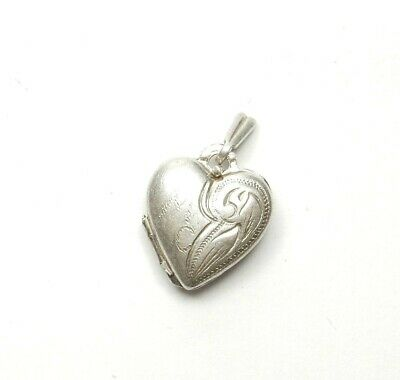 Quality Pretty 925 Sterling Silver Hollow Filigree Love Heart Pendant Charm 1.6g