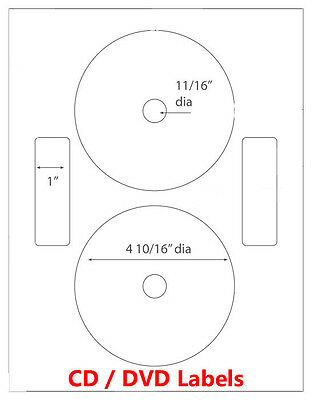 100 Neato Compatible CD/ DVD Laser and Ink Jet Labels- Full Face! 50 Sheets