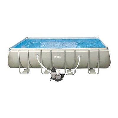 Piscine Intex Hors-Sol Tubulaire Ultra Silver KIT 5.49M x 2.74M + Filtre Sable