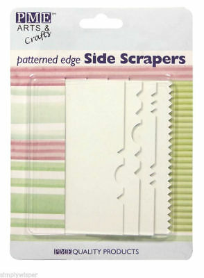 PME 4 Set Patterned Edge Plastic Side Scrapers Cake Decorating Icing Sugarcraft