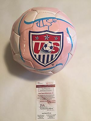 Hope Solo Autographed Full Size Team USA Soccerball JSA Witnessed COA
