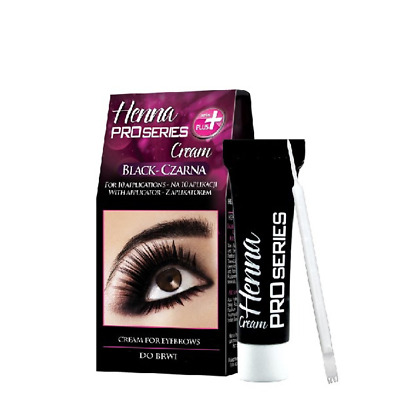 Verona Black Henna Cream Pro Series for Eyebrows with Applicator Tint Kit