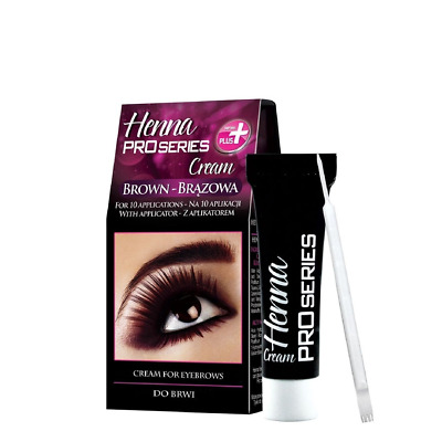 Verona Brown Henna Cream Pro Series for Eyebrows with Applicator Kit Tint