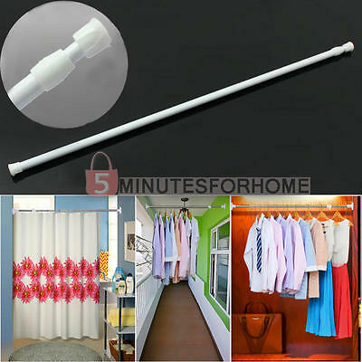 Extendable Adjustable Spring Tension Rod Poles Window Curtain Shower Bath Home