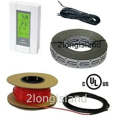 40 sqft Electric Radiant Floor Warming Cable Kit System Tile Heating Stone, 120V