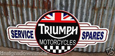 Triumph Service and Spares metal tin sign bar garage Free Postage Buy me