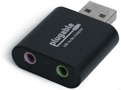 Plugable USB Audio Adapter Mini Sound Card with 3.5mm Headphone and Mic Jacks
